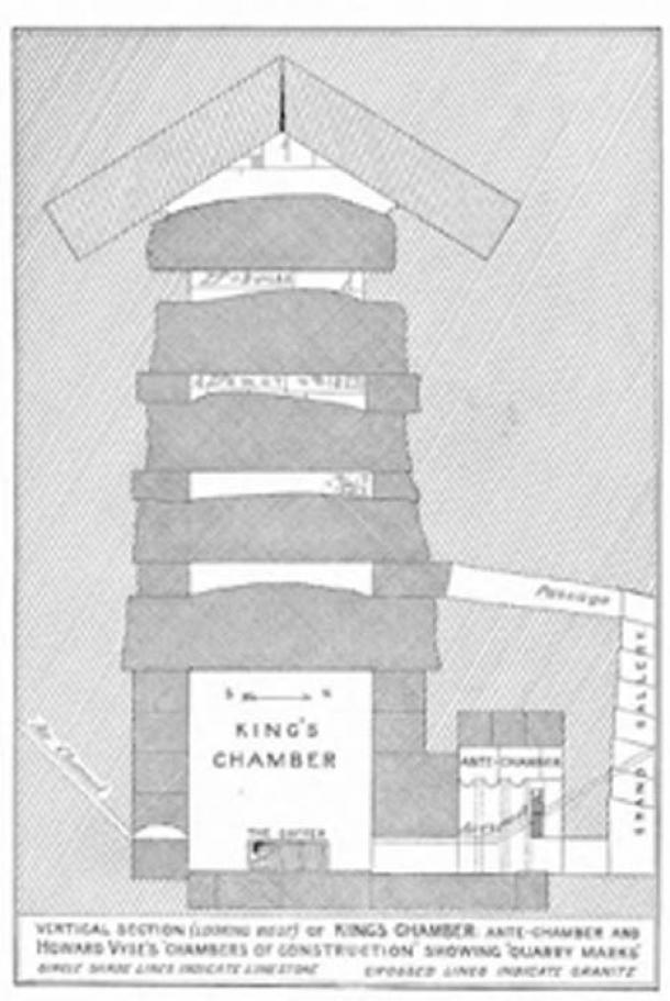 """The King's chamber with antechamber and """"construction chambers"""" above it."""