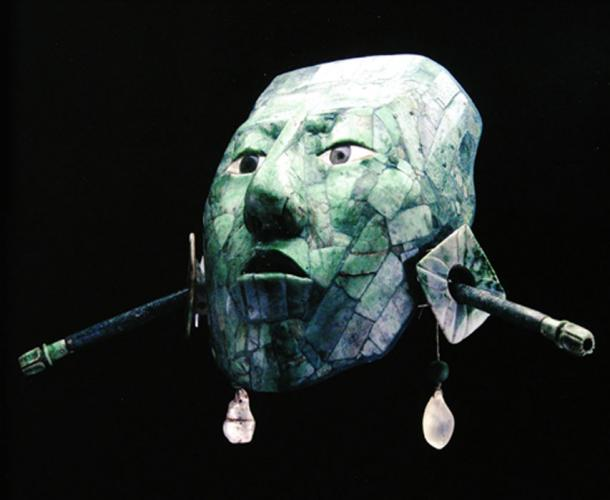 K'inich' Janahab' Pakal's funerary mask, he was one of the greatest lords of Palenque. (Arqueologia Mexicana / Author Supplied)