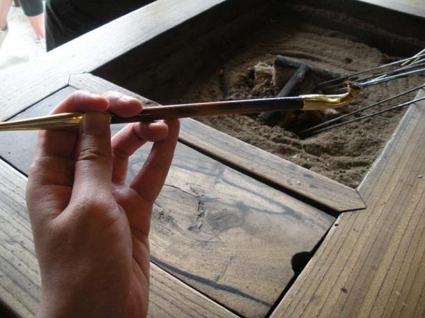 Kiseru, Japanese smoking pipe. (Public Domain)