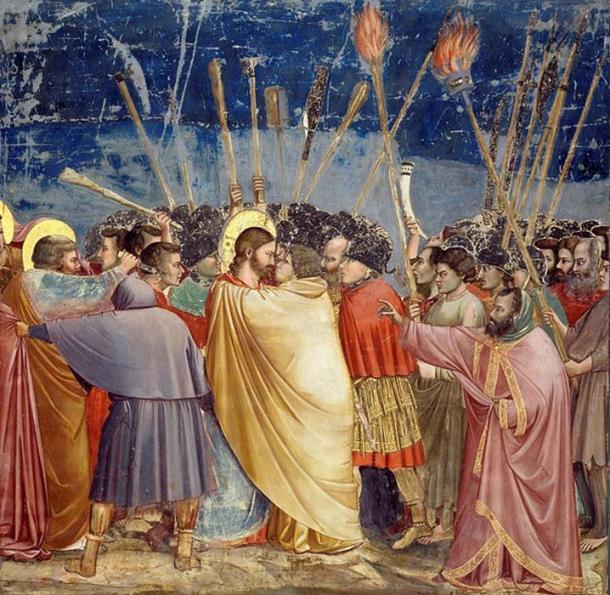 Kiss of Judas (1304–06), fresco by Giotto, Scrovegni Chapel, Padua, Italy