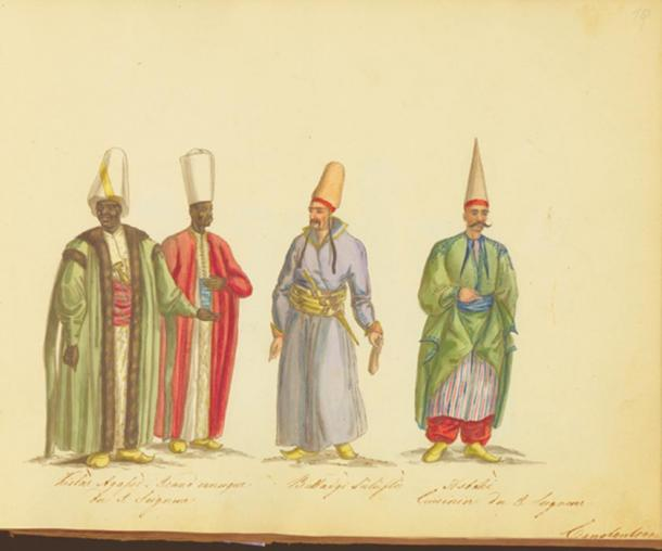 The Kızlar Ağası, head of the black eunuchs of the Ottoman Imperial Harem.