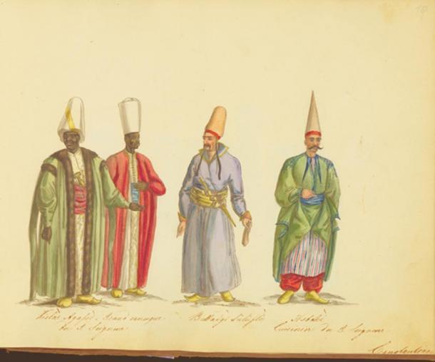 The Kızlar Ağası, head of the black eunuchs of the Ottoman Imperial Harem.