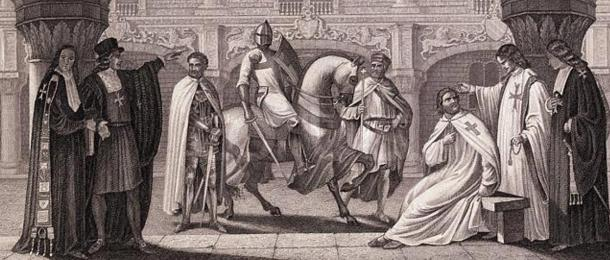 Members of the Knights Templar in discussion.