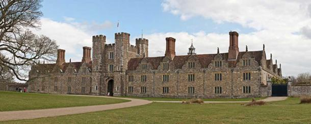 The secret letters were found during restoration works at Knole House, pictured