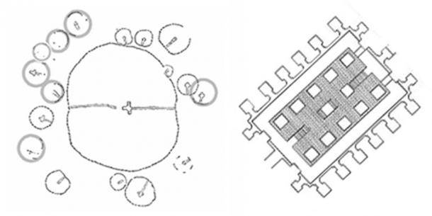 Knowth and the Osirion both feature seventeen attendant chambers.