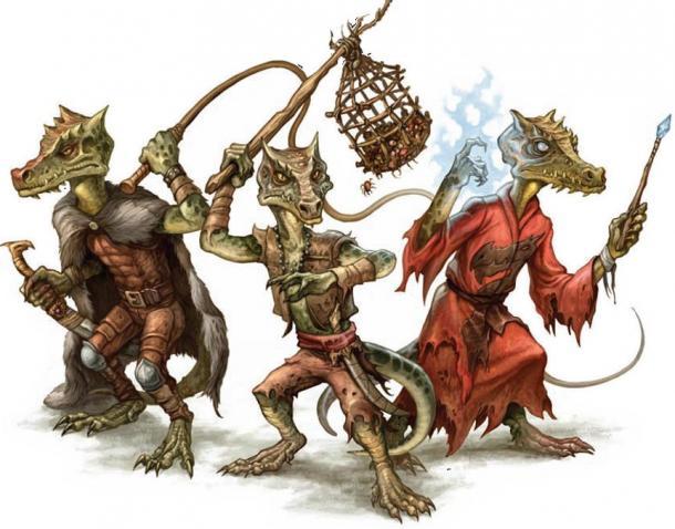 Reptilian humanoids known as Kobolds