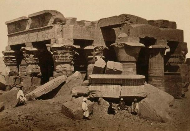 Kom Ombo Temple before restoration