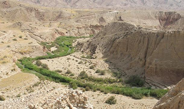 Konjan Cham River near Chogha Golan, Iran.
