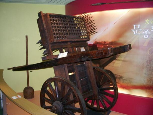 An example of Korean gunpowder weaponry.
