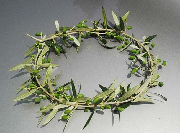 Kotinos, olive wreath. The prize for the winner at the Ancient Olympic Games