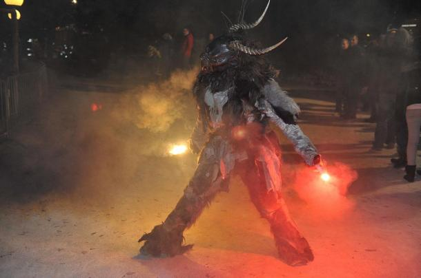 Krampus parade in Pörtschach am Wörthersee, Austria, 2013.