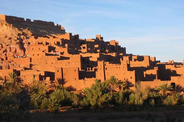 Ksar of Ait-Ben-Haddou in the evening light.