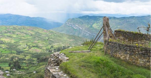 View from Kuelap fortress, Chachapoyas-Amazonas, northeastern highlands of Peru.