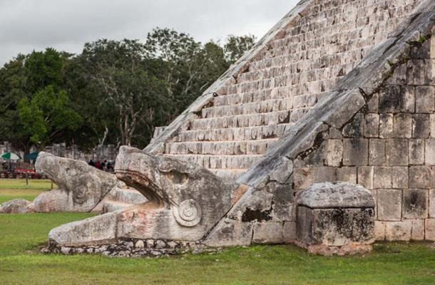 Kukulkan representations found at Kukulkan Temple, Chichén Itzá. (Image: Jose Miguel Almeyda)