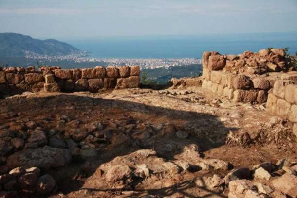 Kurul Rock archaeological site, Ordu, Turkey.