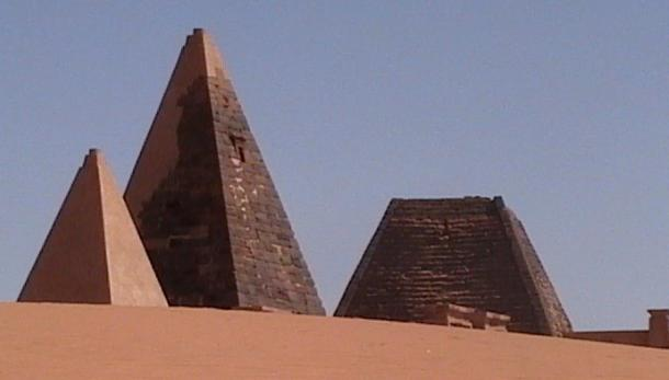 Kushite pyramids are generally steeper and more pointed than the Egyptian pyramids