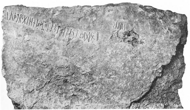 The Kylver runestone from Gotland, Sweden.