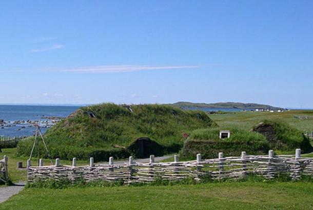 A recreation of the Viking L'Anse aux Meadows site, Newfoundland, Canada.