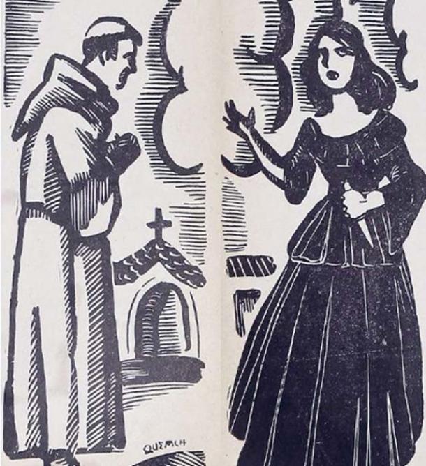 La Quintrala tried to kill Don Juan de la Fuente Loarte, a respected vicar. (Public Domain)