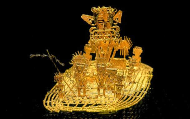 La balsa Muisca 'the Muisca raft', a pre-Columbian gold sculpture representing the Muisca's offerings of gold. (Tyler ser Noche / CC BY-SA 2.0)
