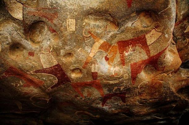 Cave paintings at the Laas Geel complex in northern Somalia.