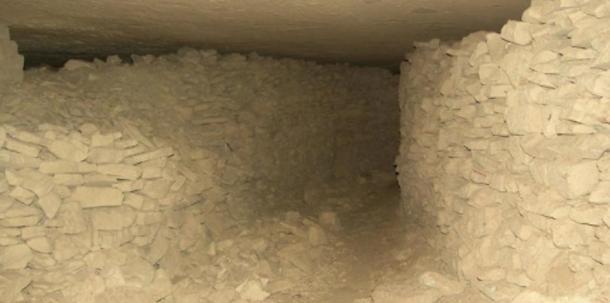 Inside the Labyrinth Cave near Gortyn, Crete