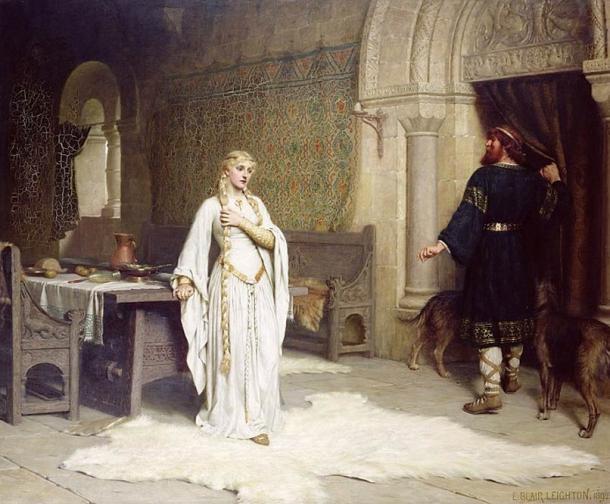 'Lady Godiva ' (1892) de Edmund Blair Leighton. (Dominio público)
