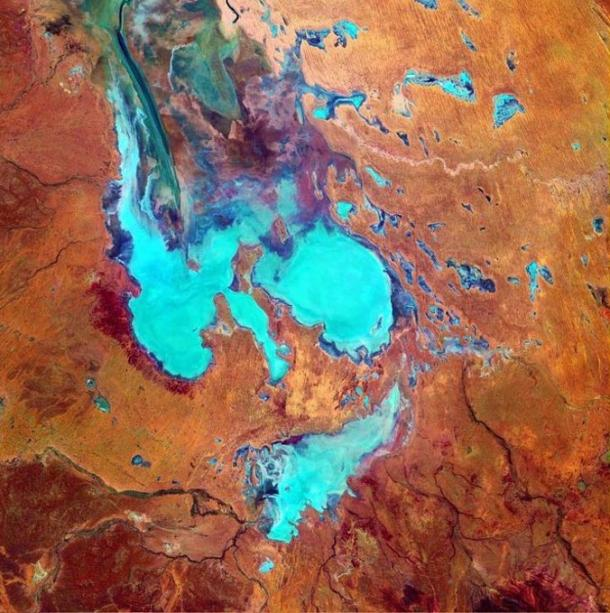 According to the indigenous people of Australia, Kati Thanda – Lake Eyre was formed when the skin of a kangaroo was laid on the ground.