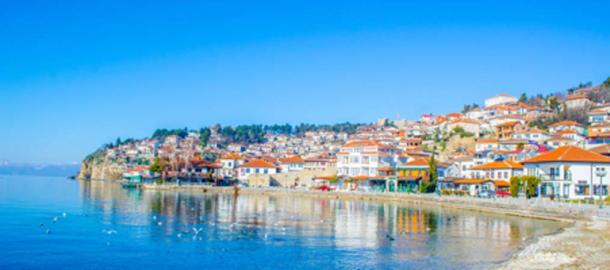 Lake Ohrid and view of the historical part of Ohrid town (dudlajzov / Adobe Stock)