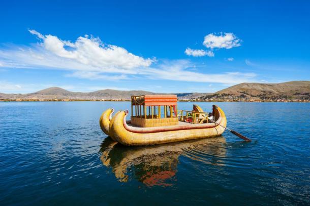 A reed boat on Lake Titcaca. (saiko3p /Adobe Stock)