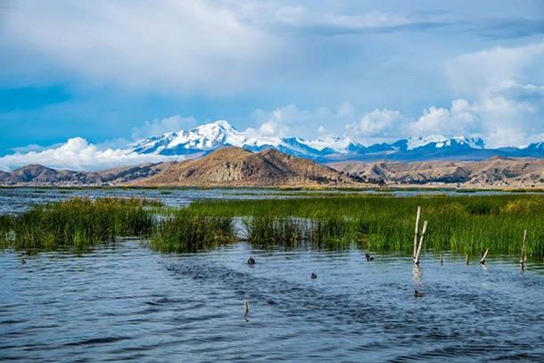 Lake Titicaca, on the modern day Bolivia-Peru border. (Public Domain)