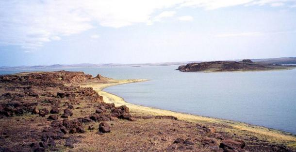 Lake Turkana seen from the South Island.