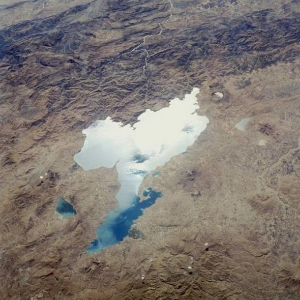 Lake Van viewed from the Space Shuttle Challenger.
