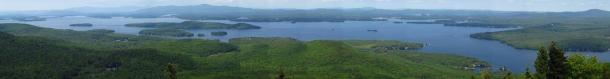 Panoramic view of Lake Winnipesaukee, New Hampshire