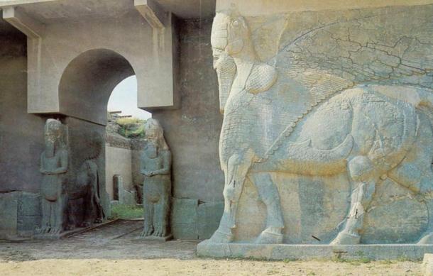 A Lamassu at the North West Palace of Ashurnasirpal II.