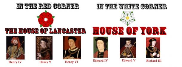 Wars of the Roses – key players in the Houses of Lancaster and York.