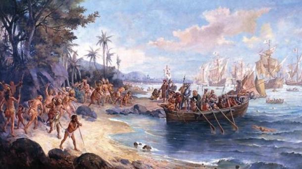 'Landing of Pedro Álvares Cabral in Porto Seguro, in 1500' (1922) by Oscar Pereira da Silva.