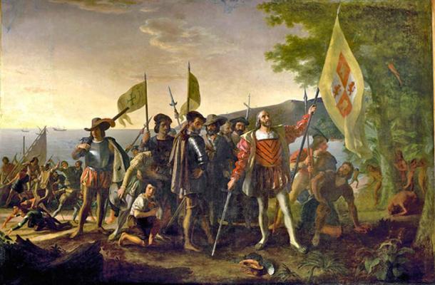 Landing of Columbus in the Americas 1492. (Davepape / Public Domain)