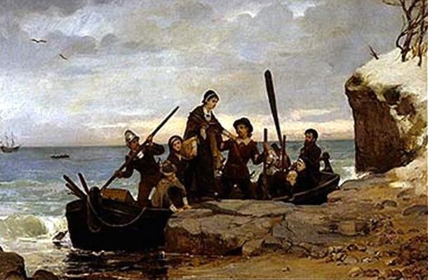 """The Landing of the Pilgrims"" (1877)"