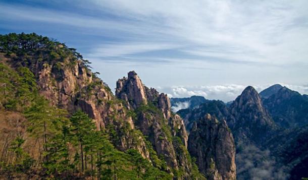 Landscape of Mount Huangshan, China.