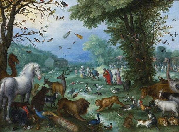 'Landscape of Paradise and the Loading of the Animals in Noah's Ark' (1596) by Jan Brueghel the Elder. (Public Domain)
