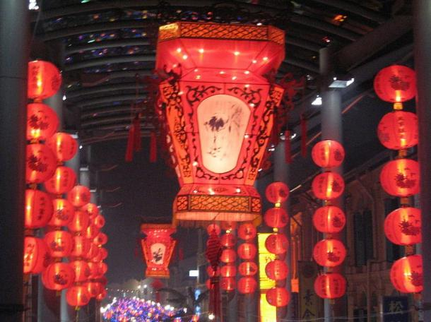 Lanterns during the Mid-Autumn Festival, Chinatown, Singapore