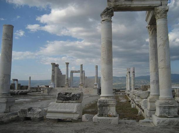 Among the ruins excavated in Laodicea are these columns of an ancient temple.