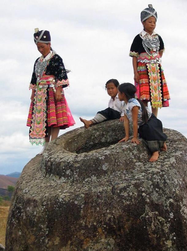 Laos Plain of Jars with Hmong Girls