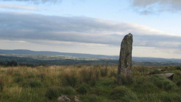 Large menhir in County Cork, Ireland.