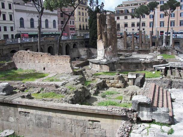 Largo di Torre Argentina in Rome.