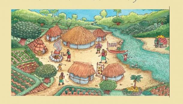 Artistic representation of a Las Vegas culture settlement. (Nuestra cultura)