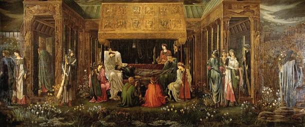 'The Last Sleep of Arthur in Avalon' (1881-1898) by Edward Burne-Jones.