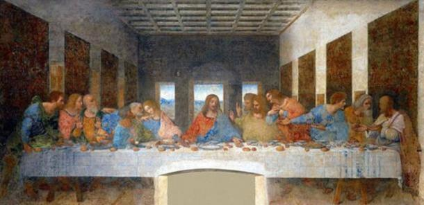 The Last Supper by Leonardo da Vinci (Wikimedia). In the novel, 'The Da Vinci Code', Dan Brown writes that the figure at the right hand of Jesus is Mary Magdalene.
