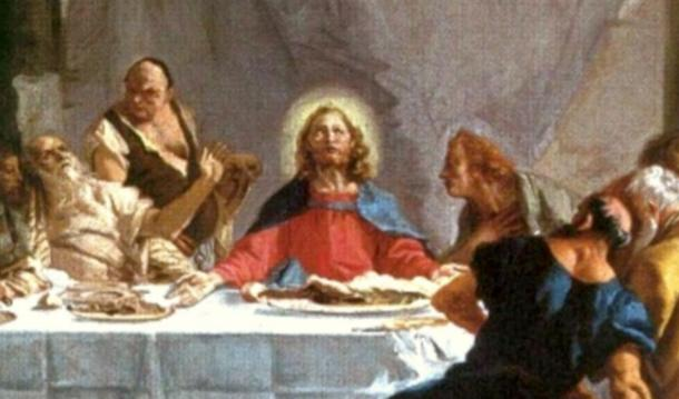 Detail; Jesus at the Last Supper, by Tiepolo